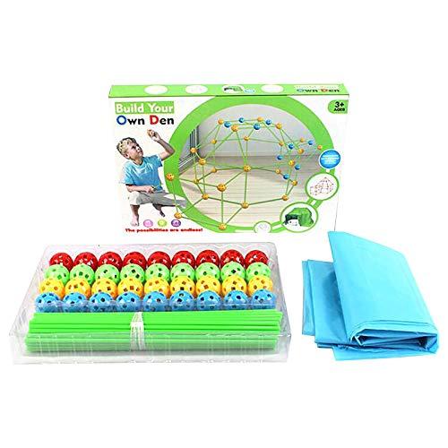QIMANZI Kinder Forts Bauspielzeug Schloss Baustein Bausatz Kunststoff Bauset Konstruktionsspielzeug Baukasten Lernspielzeug Kreative Spielzeug Kinder Jungen Mädchen ab 6 Jahre