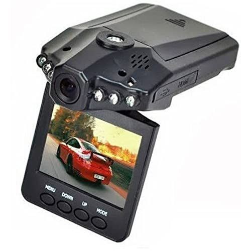 Hamtone Mini 2.5-Inch Dash Cam With HD Car LED/IR/DVR Road Dash Video Camera Rotatable Camcorder - LCD Recorder With 270 Degrees Whirl (Black)
