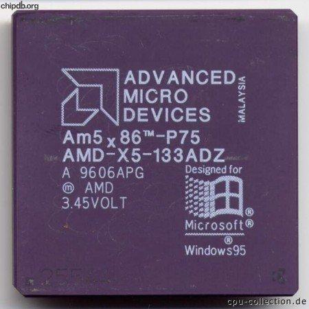 AMD CPU–CPU AM5x 86tm-p75a 9710Gpa AMD 3.45Volt