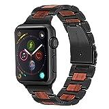 TRUMiRR Bracelet de Montre Compatible pour Apple Watch 42 mm 44 mm, Acier Inoxydable...