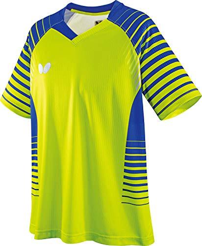 バタフライ(Butterfly) 卓球 試合用 半袖ゲームウェア ネオルド・シャツ 男女兼用 ライム S 45450