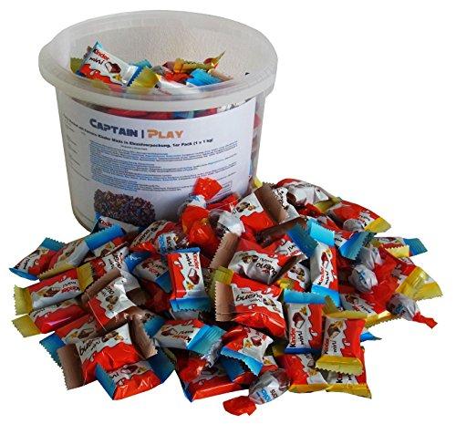 Party Bucket mit Ferrero Kinder Minis in Einzelverpackung, 1er Pack (1 x 1 kg)