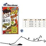 ハヤブサ(Hayabusa) ライトショット 投げハゼセット 立つ天秤 2本鈎 HA313 5号 9-1.5-3