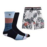 Quiksilver Herren and Underwear Gift Geschenkset mit Socken & Unterwäsche, Marineblaues Geschenk-Set (3-teilig), Medium
