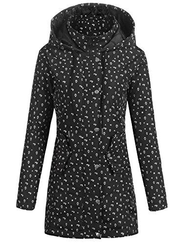 Parabler Damen Softshelljacke Leichte Jacke Übergangsjacke Winterjacke Outdoor Winddichte Jacke mit Hoher Kragen und Kapuze aus hochwertigem Material