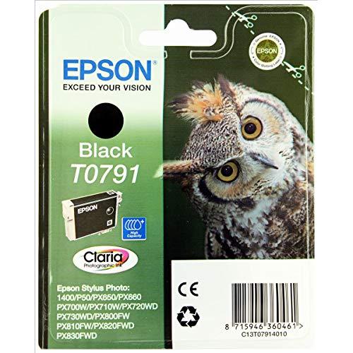 Epson T0791 Tintenpatrone (Claria Photographic Ink, 1-er Pack) schwarz