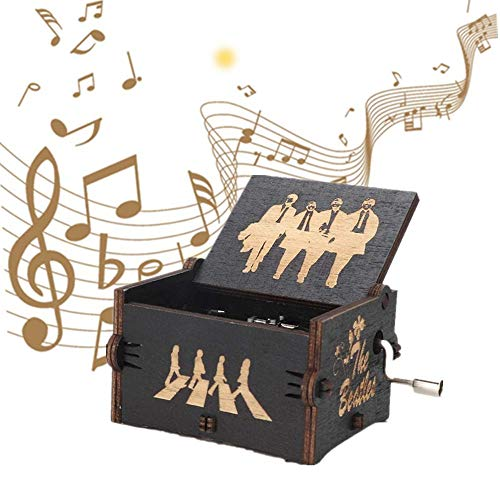 Carillon Beatles, Beatles Gadget Carillon antichi in Legno Intagliato a Mano, miglior Regalo per Il Compleanno di Christma(Digitare E)