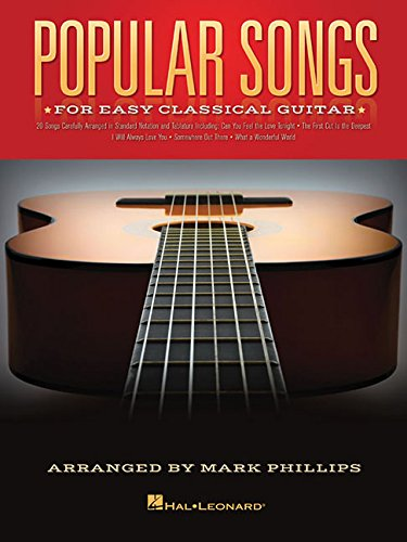 Popular Songs For Classical Guitar Solo: Songbook, Tab für Gitarre