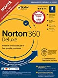 norton 360 deluxe 2020 | 5 dispositivi | licenza di 15 mesi con rinnovo automatico| secure vpn e password manager | pc, mac, tablet e smartphone