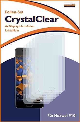 mumbi Schutzfolie kompatibel mit Huawei P10 Folie klar, Displayschutzfolie (6X) - 3