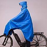 LOWLAND OUTDOOR® Poncho de lluvia para bicicleta, azul, talla única