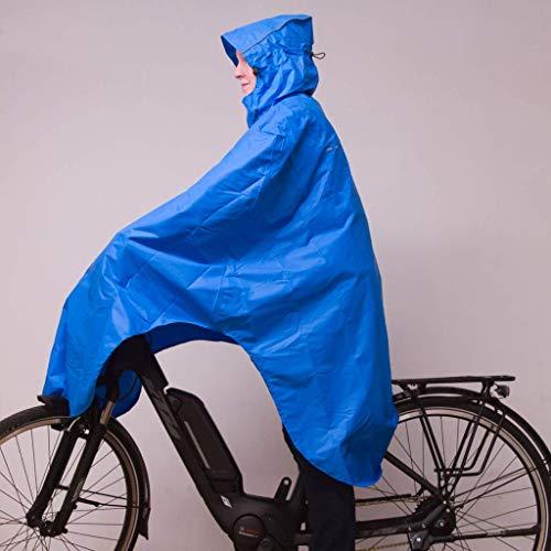 LOWLAND OUTDOOR® Fahrradregenponcho, Blau, One size