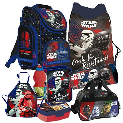 Star Wars Clone 8 Teile Schulranzen Ranzen Tornister Rucksack Tasche Federmappe Sporttasche Set inklusive Sticker-von-Kids4shop
