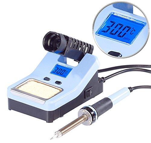 AGT Lötkolben: Digitale Lötstation mit LCD-Display, 160-520 °C, 48 Watt (Elektronik Lötstation)