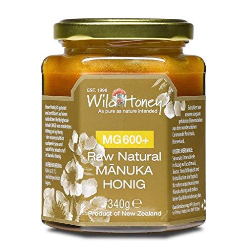 WILD HONEY - Raw Natural Manuka Honig MGO 600+ 340g im Glas I das Original I bekannt durch TV Sternekoch I Laborberichte und Zertifikate online