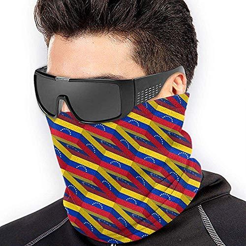 air kong Venezuela Flag 3D Art Pattern Scarf Neck Gaiter Magic Headband Balaclava Hood Unisex Mask Bandana Winter Warm Headwear