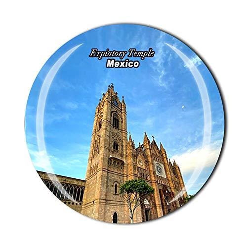 Epiatorio Tempio Guadalajara Messico Viaggi Souvenir Regalo 3D Cristallo Frigorifero Magnetico Decorazione Casa Cucina Adesivo Magnetico