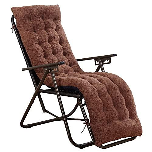 eewopjkj Cojín Antideslizante para sillón de jardín Alfombrilla de Asiento Largo con Madera con fijación Almohadillas de Mecedora para reclinable de Viaje de Vacaciones en Interiores y Exteriores (