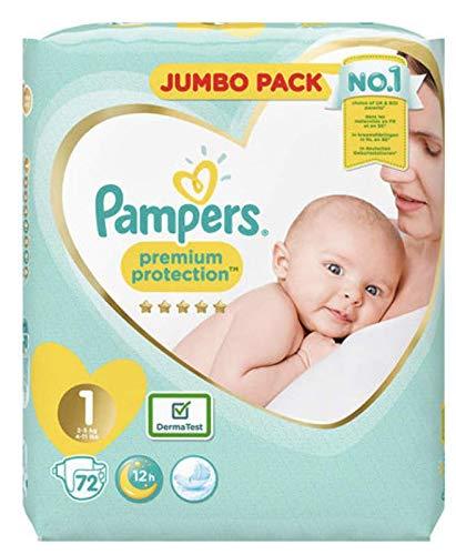 Pampers Lot de 2 paquets de 72 couches de protection pour nouveau-né Taille 1