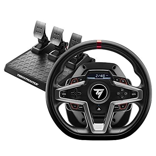 Thrustmaster T248 Volant de Course et Pédales Magnétiques, PS5, PS4, PC, Retour de Force HYBRID DRIVE