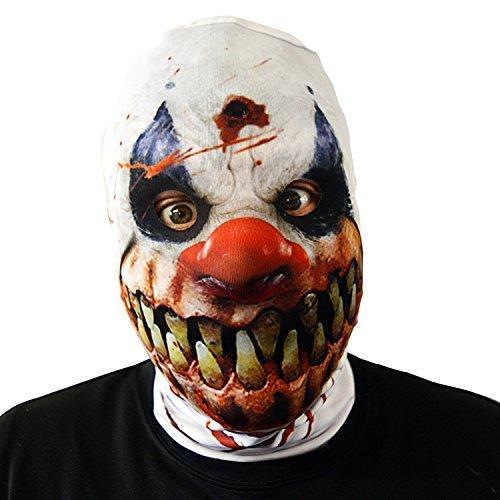 Monster Smile Killer Clown Gesichtsmaske Halloween Kostüm Erwachsene SCHRECKEN Horror