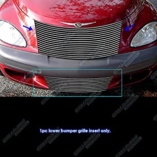 APS Compatible with 2000-2005 Chrysler PT Cruiser Bumper Billet Grille Grill Inserts S18-A37566R