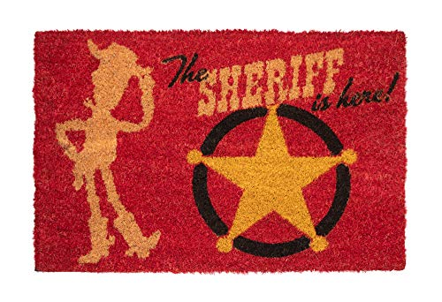 "ERIK - Felpudo entrada casa Toy Story ""THE SHERIFF IS HERE"", Disney (40 x 60 cm)"
