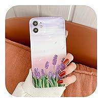 ファッションロータスフラワー油絵For iPhone12 Mini 11 Pro XS MAX X XR SE 2020 78プラス耐衝撃カバーCapa用ソフトフォンケース-Style 4-For iPhone 7