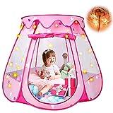 Princess Tent Girls Kids Playhouse - Pop Up Play Tent with Star Light DISHIO...