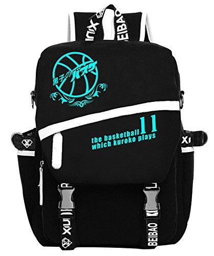 Siawasey Anime Kuroko no Basket Cosplay Mochila luminosa hombro escuela bolsa