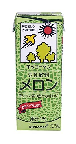 キッコーマン 豆乳飲料 メロン 200ml ×18本