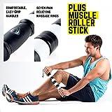 TeamSoda Fitness Massage-Set: 2 in 1 Faszienroller + doppelter Lacrosse Massageball + Massage Roller Stick - 3