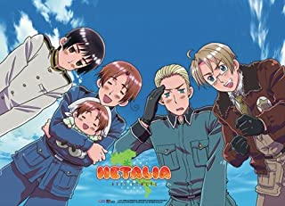 Great Eastern Hetalia Four Country Group Fabric Poster