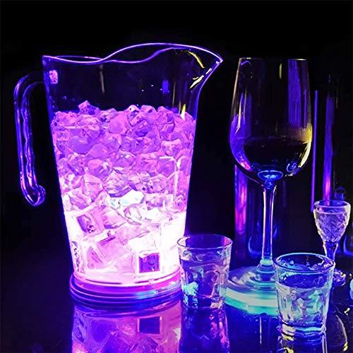 ESGT Cubo De Hielo con Cambio De Color LED, Barra De Plástico De 1.8L Jarra De Cerveza con Luz LED Cubo De Cerveza con Champán para KTV Party Bar, Home Wedding Banquet, Bar