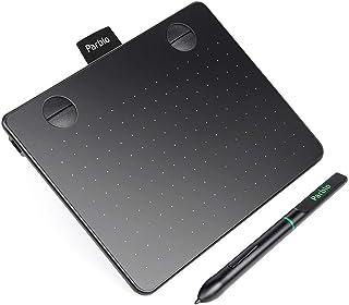 """Parblo A640 ペンタブ バッテリー充電不要 8192レベル筆圧 4個エクスプレスキー 7.2"""" x 5.9"""" (ブラック)"""