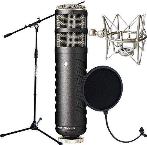 Rode Procaster + keepdrum MS088 Spinne + EMH Popschutz + MS106 Mikrofonstativ