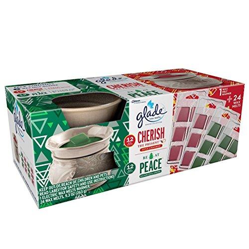 Glade Wax Melts, Warmer and Wax Melts Pack, Apple Cinnamon and Balsam Fir & Juniper