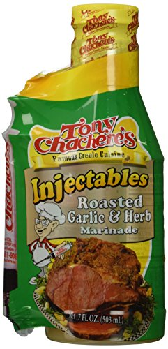 Tony Chachere Injectable Marinades with Injector, Roasted Garlic and Herb, 3 Count