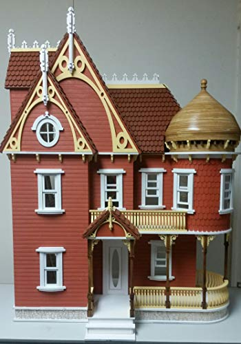 Melody Jane The Hannah Viktorianisch Mansion Puppenhaus mit Turret Flache Packung Laser Cut Set