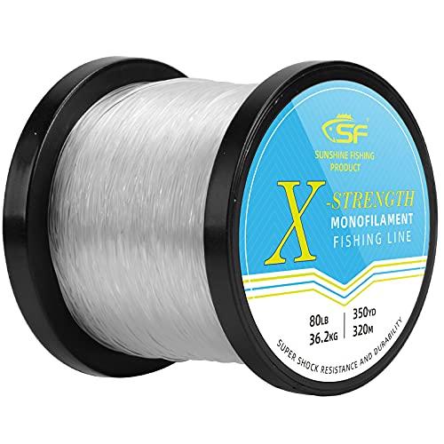 SF Monofilament Fishing Line Premium Spool Strong Mono Nylon Material Leader Line Clear for...