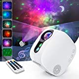 Star Projector Night Light Bluetooth Music Speaker , AIRIVO Nebula Light Projector with Remote Control, Galaxy Projector for Bedroom Ceiling for Adults Kids (White)
