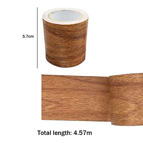 Cinta adhesiva de 5 m con diseño de grano de madera, efecto de madera, para reparación de muebles, puertas y manualidades, Chocolate