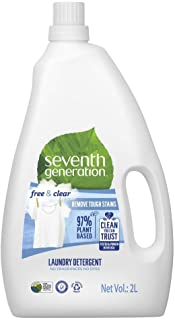 Seventh Generation Plant-based Concentrated Fabric Detergent Liquid, Unscented, 2 Litre