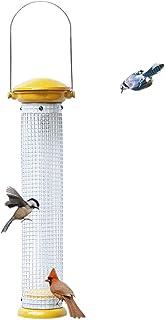Nature's Rhythm Black Oil Sunflower Seed or Peanut Aluminum Bird Feeder Cast Perforated Tube Feeder Mesh Wild Bird Feeder...