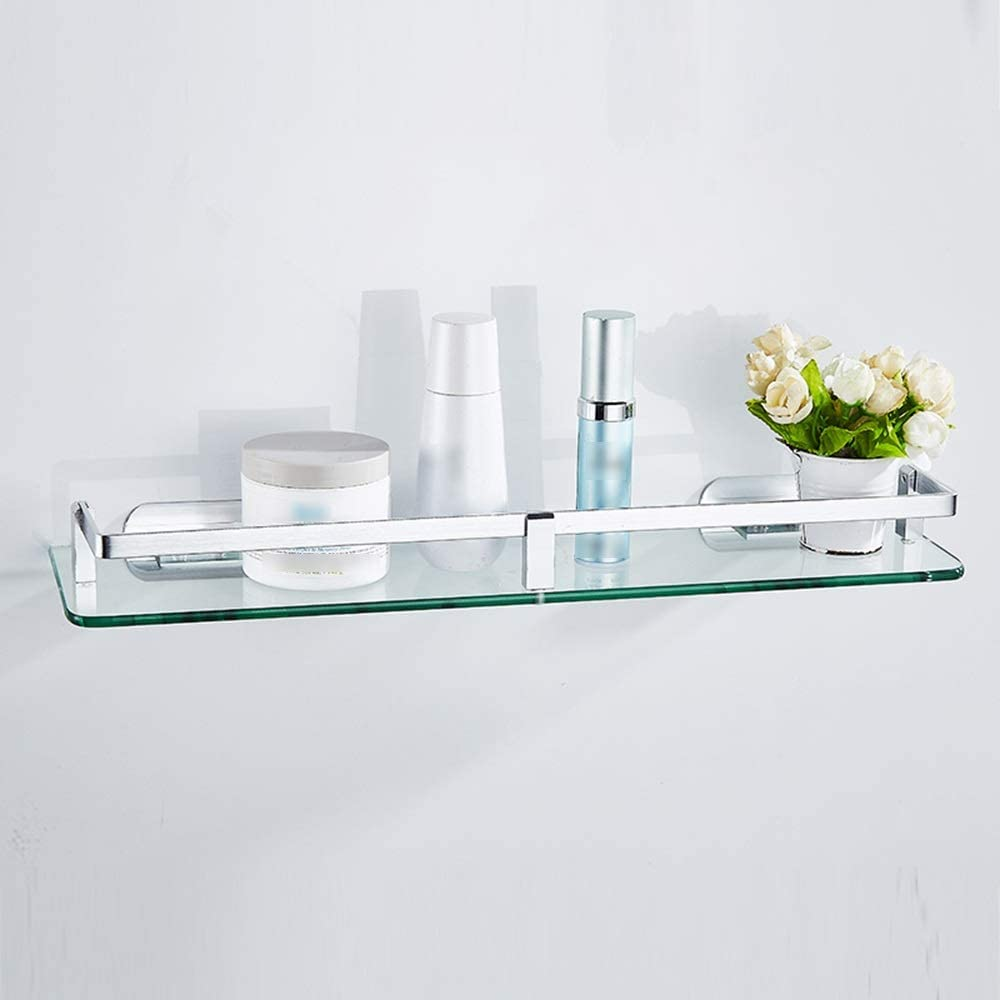 XSJJ Bathroom safety Shelf Space Aluminum Room Our shop most popular Shower Glass for