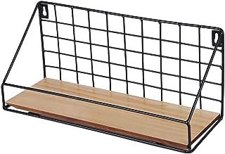 Creative Iron Craft Wall Hanging Basket Vase Books Storage Rack Wall Shelf Kitchen Organizer Bathroom Accessories - 30X11....