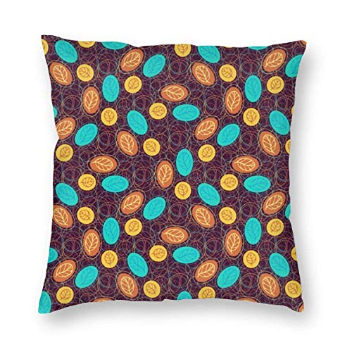 N\A Cozy Throw Pillow Cover Diseño de Textura étnica Funda de Almohada Cuadrada Decorativa Throw Cojín Funda para Dormitorio Sala de Estar Sofá Sofá y Cama