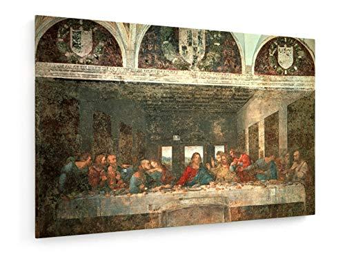 Leonardo da Vinci - Das letzte Abendmahl - Vor der Restauration - 1495-97 - 120x80 cm - Leinwandbild auf Keilrahmen - Wand-Bild - Kunst, Gemälde, Foto, Bild auf Leinwand - Alte Meister/Museum