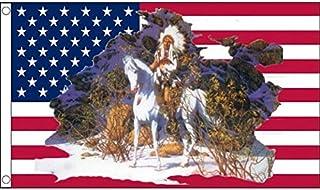 USA Indian Chief Flag 3' x 5' - American Indian Chief - USA Flags 90 x 150 cm - Banner 3x5 ft - AZ FLAG