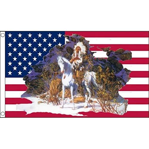 AZ FLAG Drapeau USA Chef Indien 150x90cm - Drapeau américain - Etats-Unis 90 x 150 cm - Drapeaux